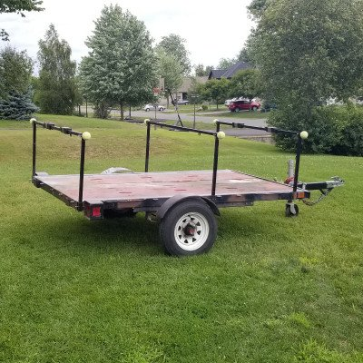 Utility flat deck trailer - 4' x 8' picture 5
