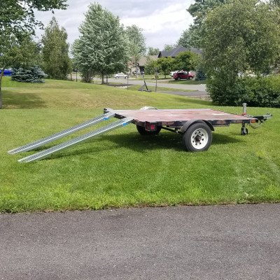 Utility flat deck trailer - 4' x 8' picture 4