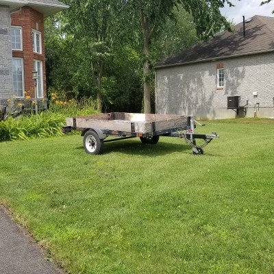 Utility flat deck trailer - 4' x 8' picture 2