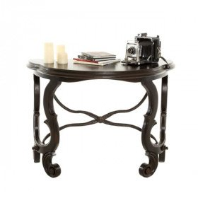 Antique X Half-Circle Console Table