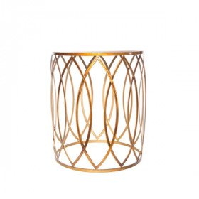 Copper Eyelet Side Table