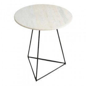 Pyramid Marble Side Table