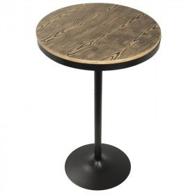 Round Low Rustic Table