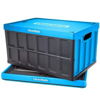 collapsible storage bins with lids picture 2