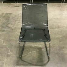 Chair - plastic - black