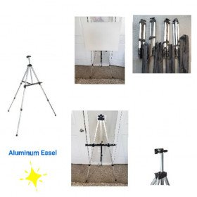 Aluminum easel stand