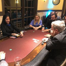 Poker Table with Dealer