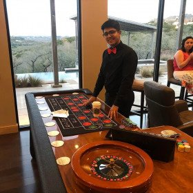 Roulette Table with Dealer