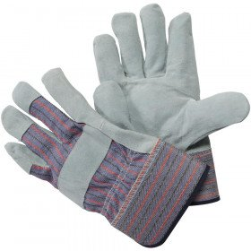 leather-palm large gloves