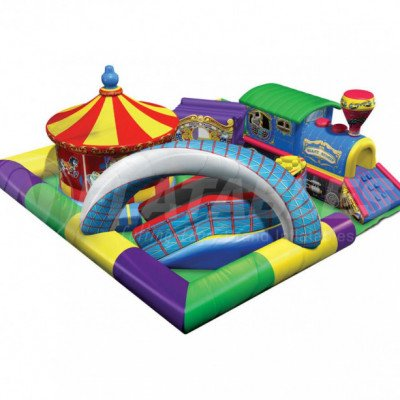 amusement park inflatable playland