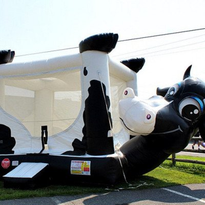 cow belly inflatable bouncer-1
