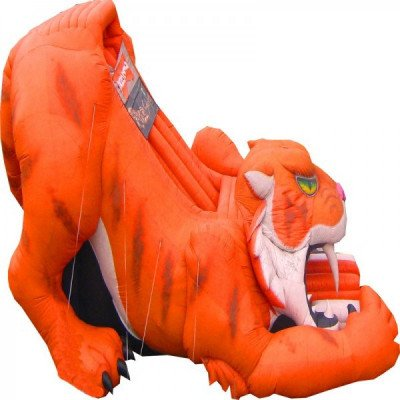 sabertooth tiger inflatable slide-1