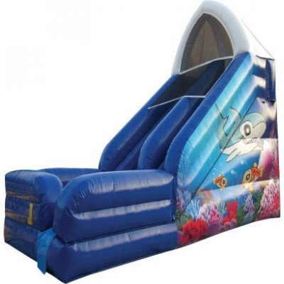 ocean inflatable shark slide