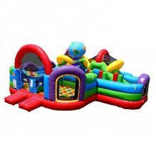 Wacky World Inflatable Obstacle Course