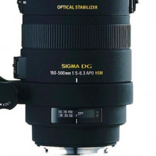 Sigma 150-500mm zoom lens