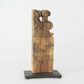 Architectural Carving on Metal Base, small