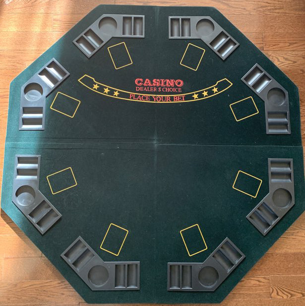 Table and poker chips