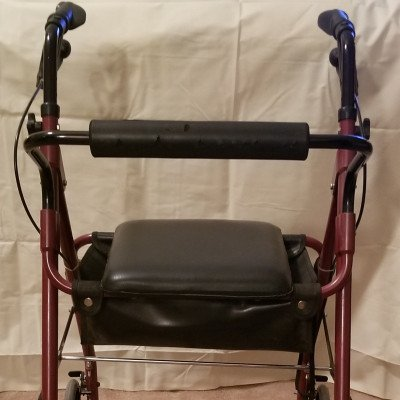 walker with hand brakes and seat-1