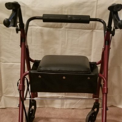 walker with hand brakes and seat-2