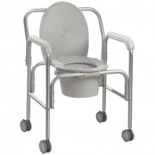 Commode - wheeled with drop arm