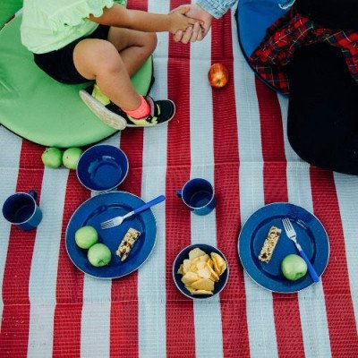 24-piece enamel camping tableware set picture 1