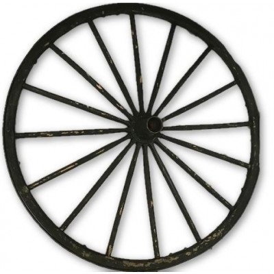 rustic wagon wheel with metal centre