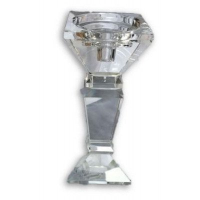 crystal square top candle holder