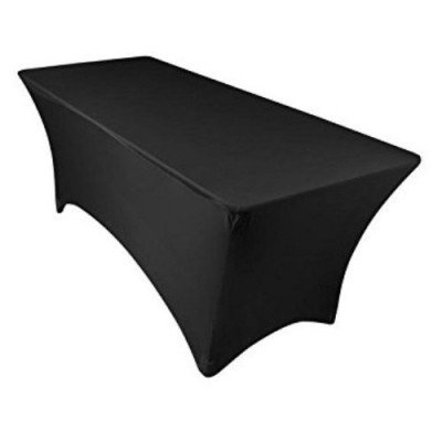 black rectangular linen tablecloth