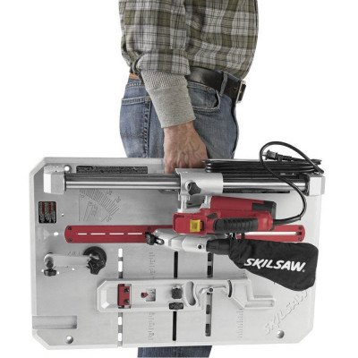 flooring saw with contractor blade-1