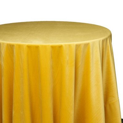 120 inch Round Sunshine Velvet Tablecloth picture 1