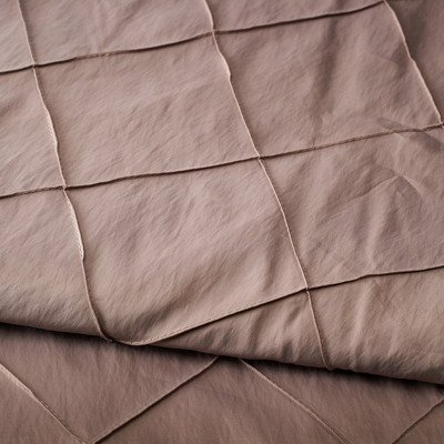 120 inch Round Taupe Pintuck Tablecloth picture 1