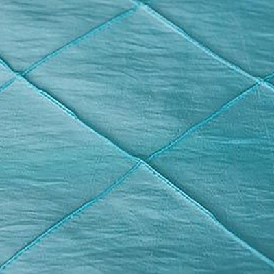 120 inch Round Turquoise Pintuck Tablecloth picture 1