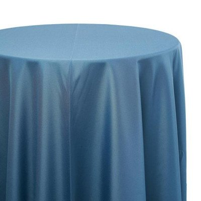 120 inch Round Wedgewood Poly Tablecloth picture 1