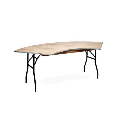 Serpentine Wood Top Table picture 1