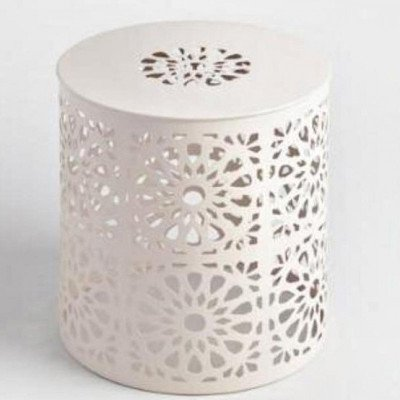 Table - End White Metal picture 1