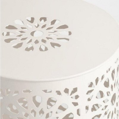 Table - End White Metal picture 2