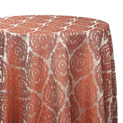 """Tablecloth - Round 120"""" Rust Delta Global picture 1"""