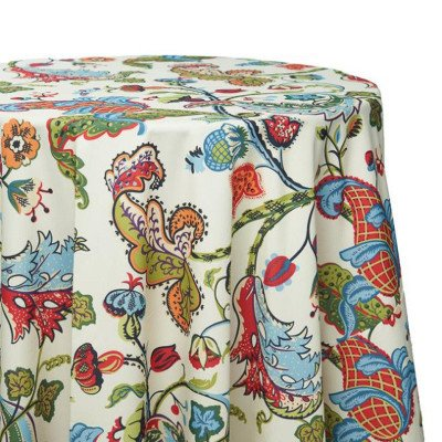 """Tablecloth - Round 120"""" Pineapple Tree picture 1"""