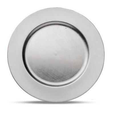 """13"""" Round Silver Charger picture 1"""