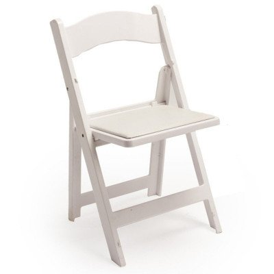 White Padded Folding Chair picture 1