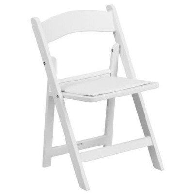 White Padded Folding Child Chair picture 1