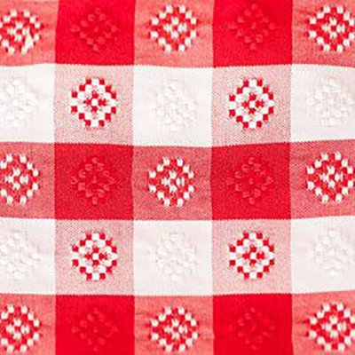 14 x 108 inch Red-White Gingham Poly Table Runner picture 1