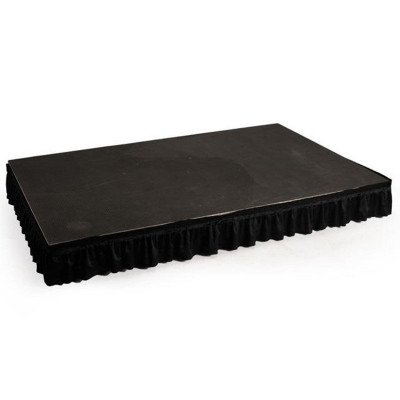 15 inch x 12 foot Black Riser Skirt picture 1