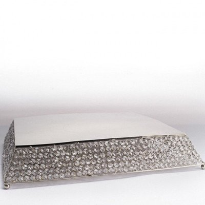 21 inch Square Crystal Cake Stand Tray picture 1