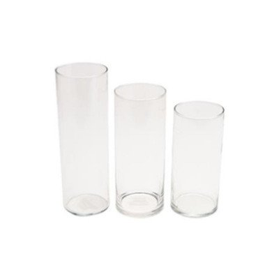 4 x 10 inch Glass Cylinder Vase picture 1