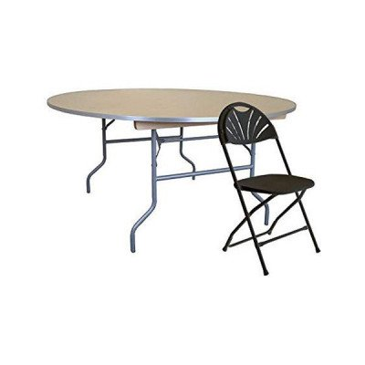 60 inch Round Wood Top Table picture 1