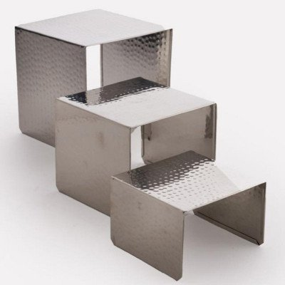 7 x 7 x 6 inch Hammered Food Display Riser picture 1
