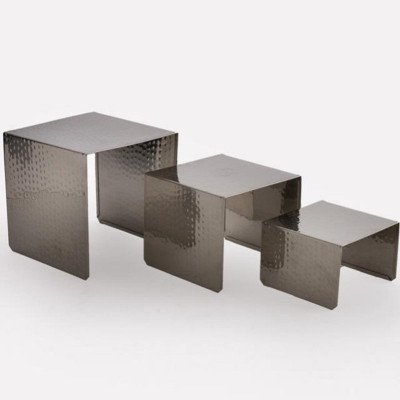 7 x 7 x 6 inch Hammered Food Display Riser picture 2