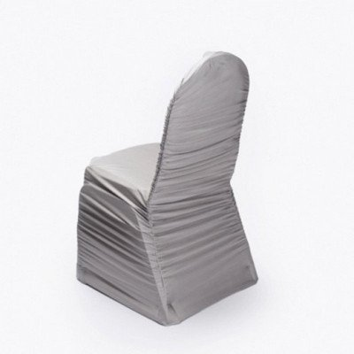 Silver Spandex Chair Cover picture 2