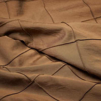 8 foot Gold Full Length Pintuck Tablecloth picture 1